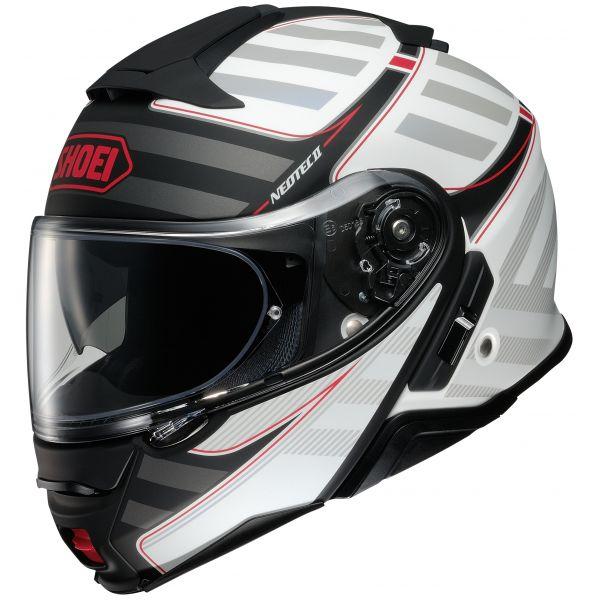 Casti Moto Flip-up (Modulabile) Shoei Casca Moto Flip-Up Neotec 2 Splicer TC-6 Black/White 2020