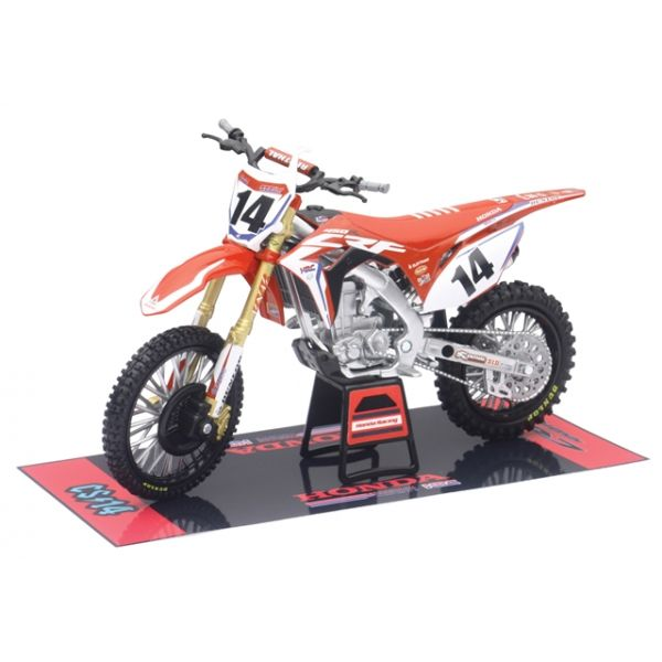 Machete Off Road New Ray Macheta Honda HRC Factory Cole Seely No.14 1:12