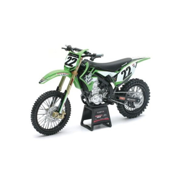 Machete Off Road New Ray Macheta Motor 1:6 Kawasaki Chad Reed Nr. 22