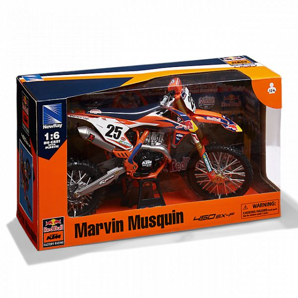 Machete Off Road New Ray Macheta Motor 1:6 KTM Marvin Musquin #25