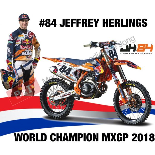 Machete Off Road New Ray Macheta Motor 1:6 KTM Jeffrey Herlings #84
