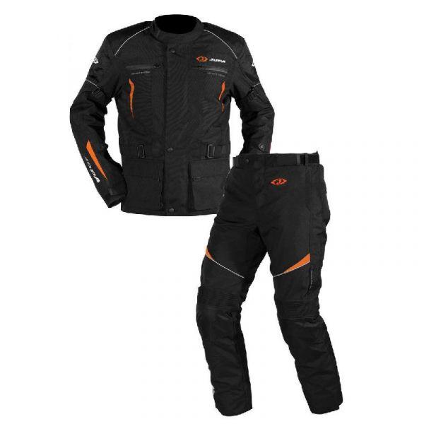 Combo Geaca/Pantalon ATV Jopa Combinezon ATV Omega V2 Geaca + Pantaloni Black/Orange