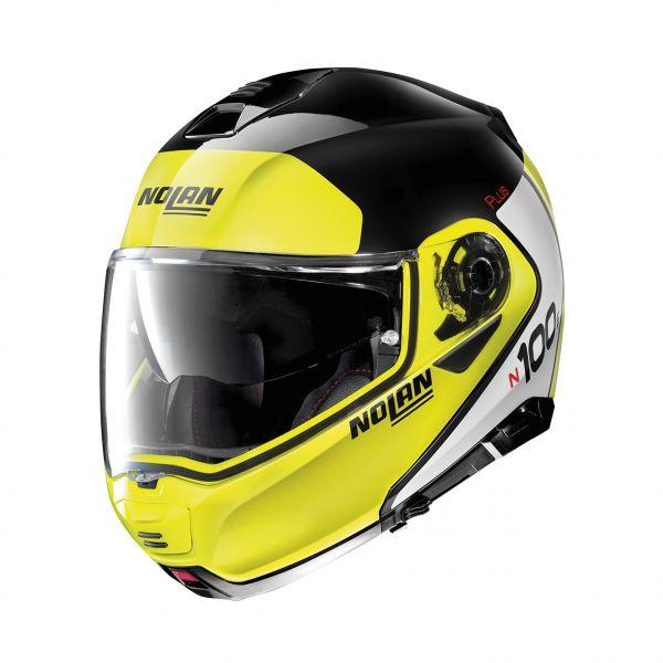 Casti Moto Flip-up (Modulabile) Nolan Casca Flip-Up N 100-5 Plus Distinctive N-Com Negru Lucios 2020