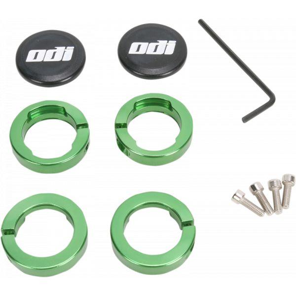 Mansoane Enduro-MX Odi Cleme Fixare Mansoane Green-D70ljn Aluminiu
