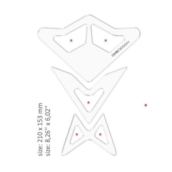TankPad Moto OneDesign Tankpad Universal Transparent 43010504 2020