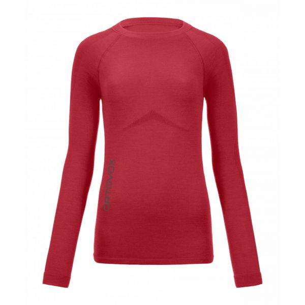 Underlayer Snow Ortovox Bluza 230 Competition Long Sleeve Hot Coral Dama