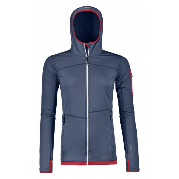 Underlayer Snow Ortovox Bluza Corp Fleece Light Hoody Night Blue