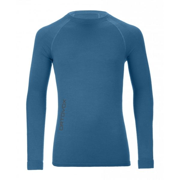Underlayer Snow Ortovox Bluza Merino 230 Competition Loong Sleeve Blue Sea