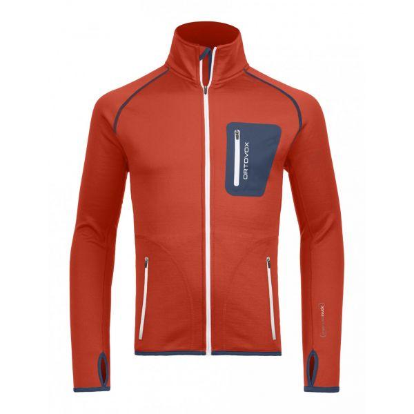 Underlayer Snow Ortovox Bluza Merino Fleece Jacket Crazy Orange