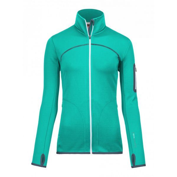 Underlayer Snow Ortovox Bluza Merino Fleece Jacket Aqua Dama