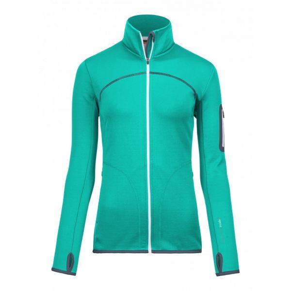 Underlayer Snow Ortovox Bluza Merino Fleece Jacket Aqua Dama