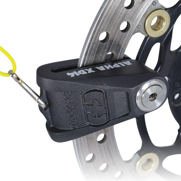 Antifurt Moto Oxford  ALPHA XD14 BLOCATOR DISC OTEL INOX (14MM PIN) BLACK