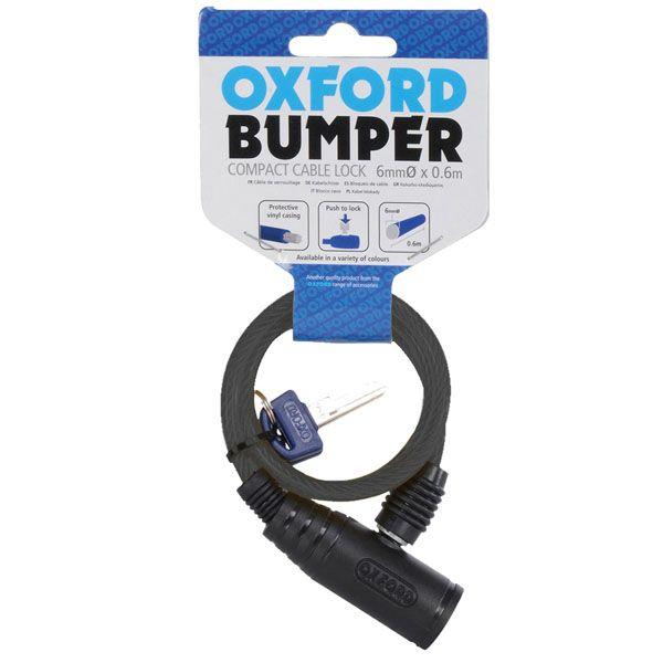 Antifurt Moto Oxford  BUMPER CABLE LOCK 600MM X 6MM - SMOKE