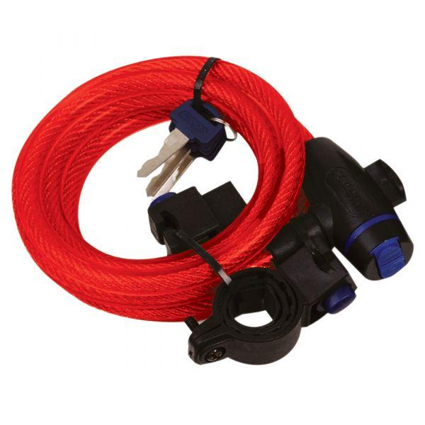 Antifurt Moto Oxford Cablu Antifurt 1.8M X 12mm - RED
