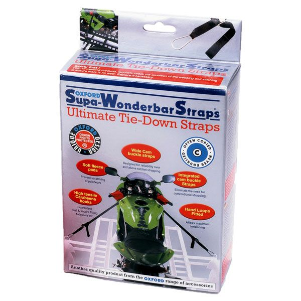 Transport Moto Strada Oxford Chingi SUPER - WONDERBAR STRAPS - BLACK