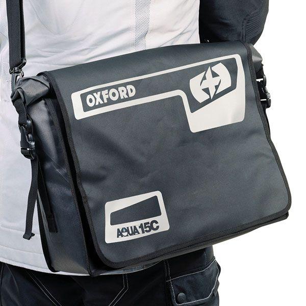Genti Moto Strada Oxford Geanta Laptop Aqua 15C - Negru