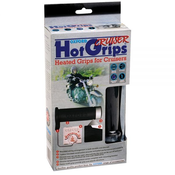 Mansoane Moto Stradale Oxford Mansoane Incalzite HotGrips pentru CRUISERS (1 INCH)