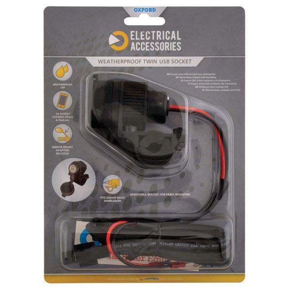 Accesorii Electrice Bord Oxford USB 5V 2AMP DUAL SOCKET & FUSED LOOM
