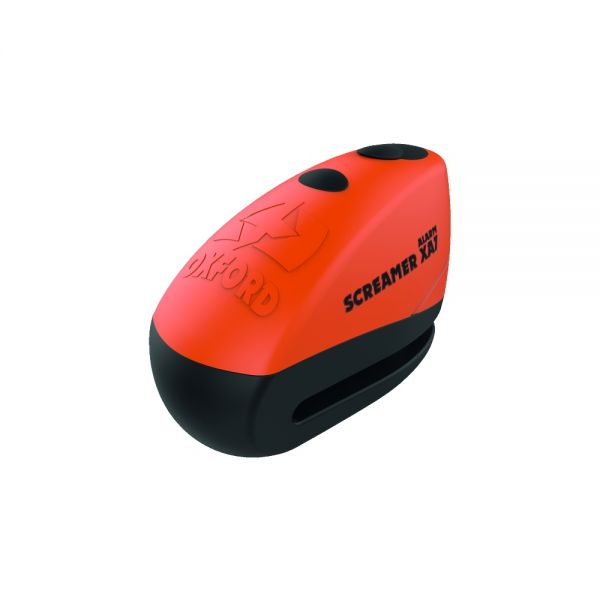 Antifurt Moto Oxford  SCREAMER XA7 ALARMA BLOCATOR DISC ORANGE/MATT BLACK