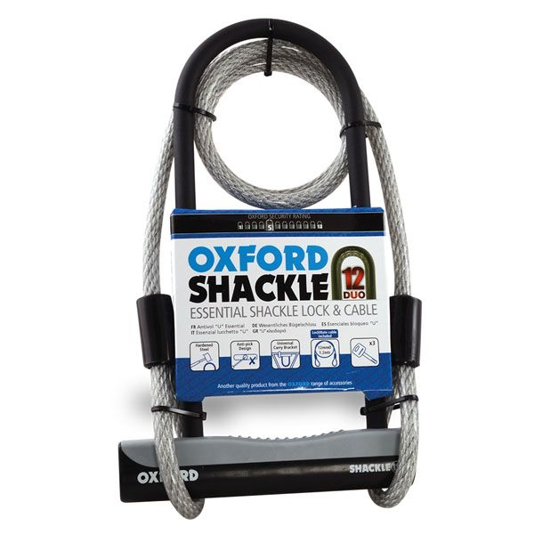 Antifurt Moto Oxford  SHACKLE12 DUO ULOCK & 1.2M CABLE