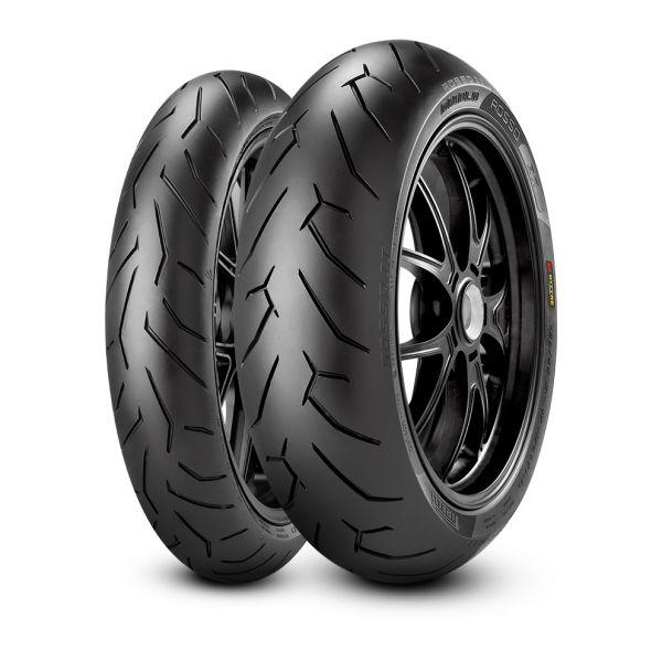 Pirelli SET DIABLO ROSSO II - 120/70-17, (58W) + 180/55-17, (73W) (PI2291900 + PI2068500)