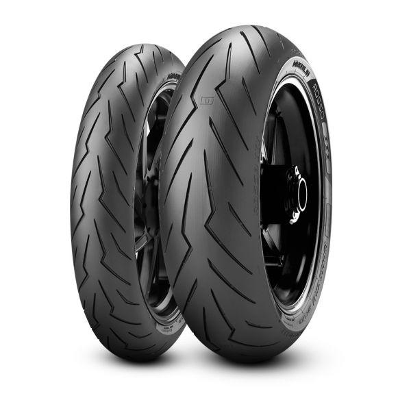 Pirelli SET DIABLO ROSSO III - 120/70-17, (58W) + 190/55-17, (75W) (PI2635200 + PI2635800)