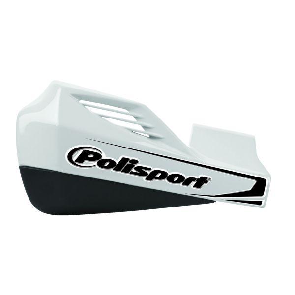 Handguard Polisport Handguard MX Rocks Montaj Aluminiu IPD White/Black