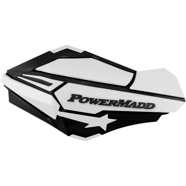 Handguard ATV PowerMadd-Cobra Handguard ATV Black/white-34428 Aluminiu /Plastic
