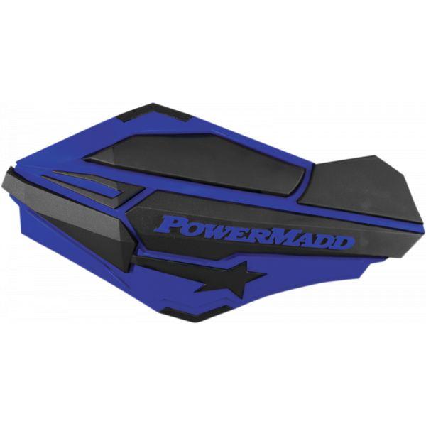 Handguard ATV PowerMadd-Cobra Handguard ATV Blue/black-34404 Aluminiu /Plastic