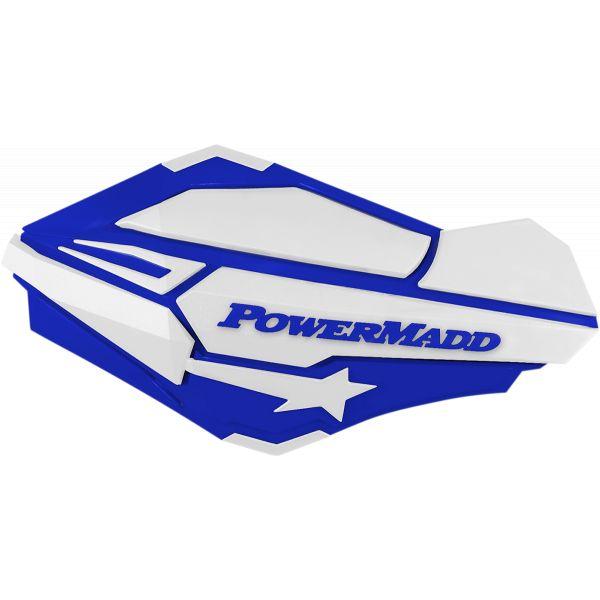Handguard ATV PowerMadd-Cobra Handguard ATV Blue/white-34421 Aluminiu /Plastic
