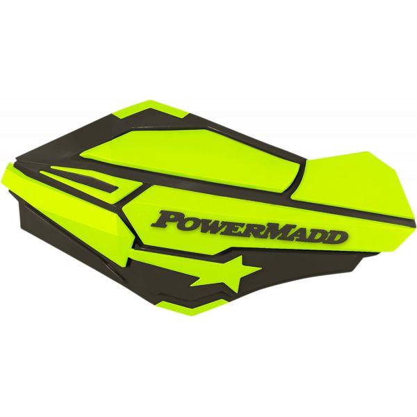 Handguard ATV PowerMadd-Cobra Handguard ATV Charcoal/Hi-Viz-34425 Aluminiu /Plastic