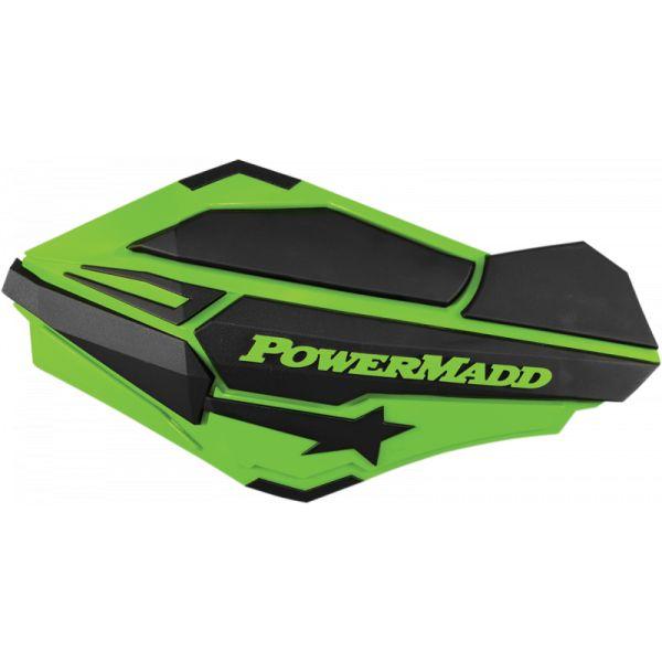 Handguard ATV PowerMadd-Cobra Handguard ATV Green/Black-34403 Aluminiu /Plastic