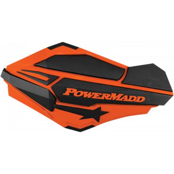 Handguard ATV PowerMadd-Cobra Handguard ATV Orange/Black-34405 Aluminiu /Plastic