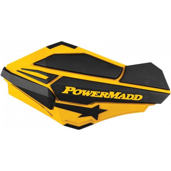 Handguard ATV PowerMadd-Cobra Handguard ATV Sentinel Yellow/Black -34401 Aluminiu /Plastic
