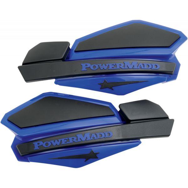 Handguard ATV PowerMadd-Cobra Handguard ATV Star Series 22 MM Plastic Black/Blue-34204