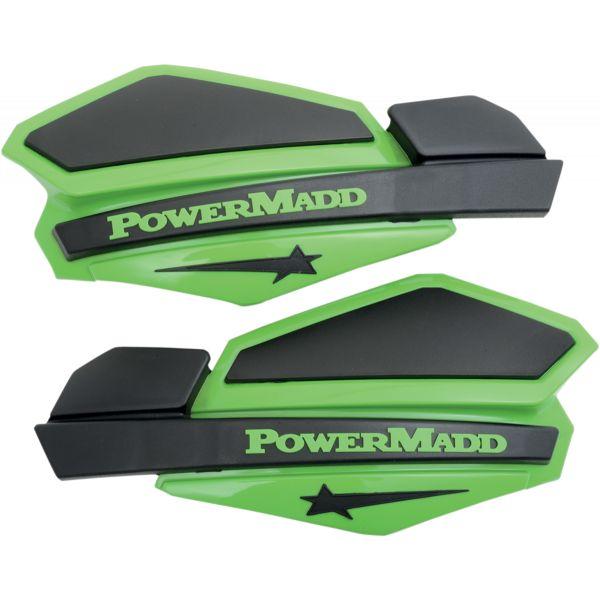 Handguard ATV PowerMadd-Cobra Handguard ATV Star Series 22 MM Plastic Black/Green-34203