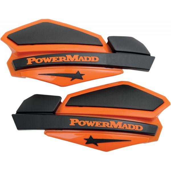 Handguard ATV PowerMadd-Cobra Handguard ATV Star Series 22 MM Plastic Black/Orange-34205