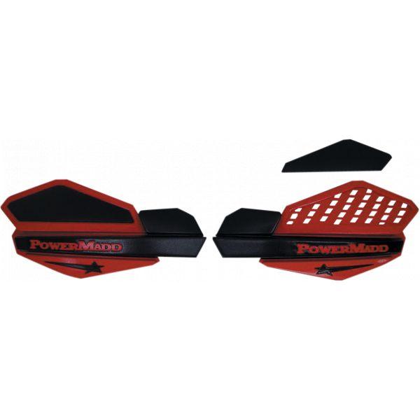 Handguard ATV PowerMadd-Cobra Handguard ATV Star Series 22 MM Plastic Black/Red-34202