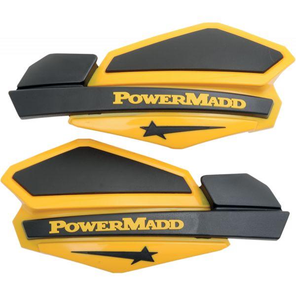 Handguard ATV PowerMadd-Cobra Handguard ATV Star Series 22 MM Plastic Black/Yellow-34201