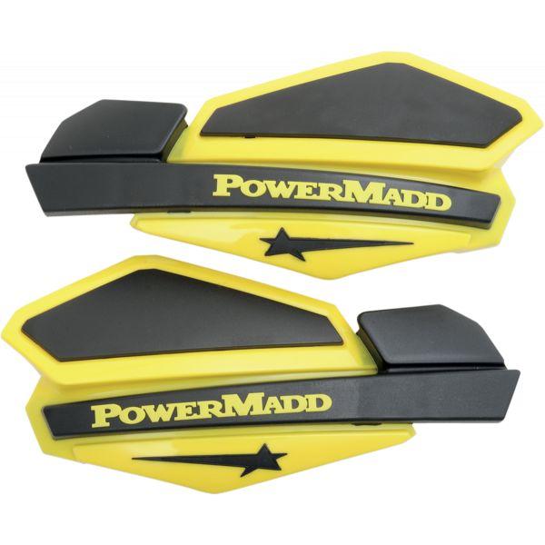 Handguard ATV PowerMadd-Cobra Handguard ATV Star Series 22 MM Plastic Black/Yellow-34206