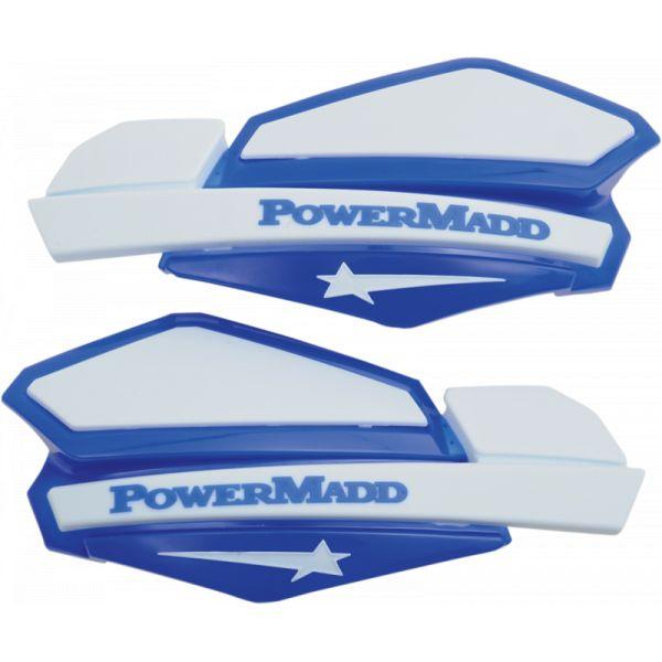 Handguard ATV PowerMadd-Cobra Handguard ATV Star Series 22 MM Plastic Blue/White-34221