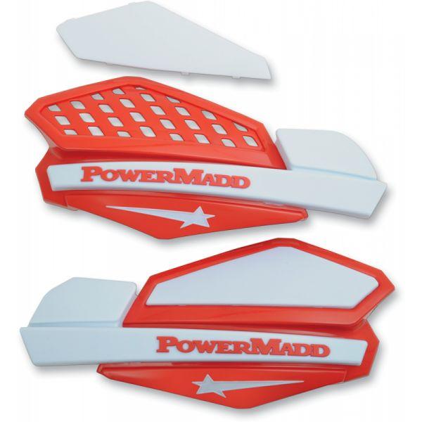 Handguard ATV PowerMadd-Cobra Handguard ATV Star Series 22 MM Plastic Red/White-34222