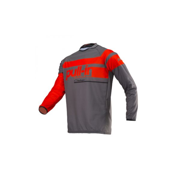Tricouri MX-Enduro Pull In Tricou Challenger Charcoal/Orange