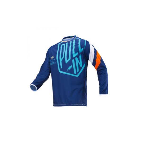 Tricouri MX-Enduro Pull In Tricou Challenger Navy/Orange