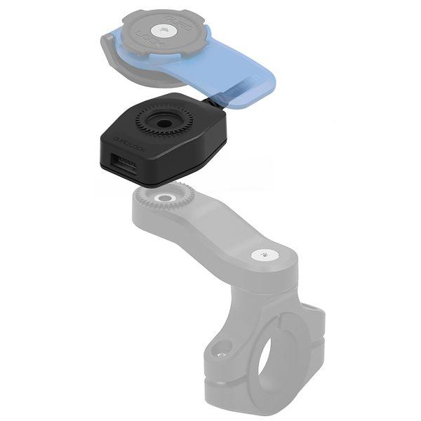 Suport Ghidon Telefon/GPS Quad Lock Incarcator USB QLA-MOT-USB
