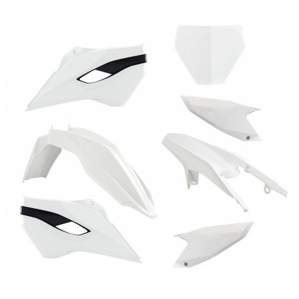 Plastice MX Racetech Kit Plastice Husqvarna TE/FE 250/350/450 14-16 Alb