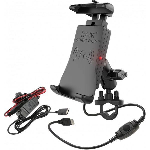 Suport Ghidon Telefon/GPS Ram Mounts Quick-grip  Suport Ghidon cu incarcare Wireless Waterproof - Ramb149zaun14wv