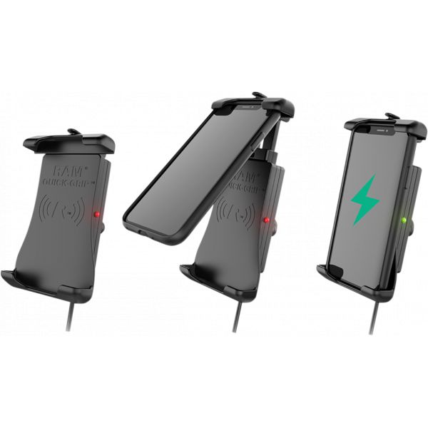 Suport Ghidon Telefon/GPS Ram Mounts Quick-grip  Suport Ghidon cu incarcare Wireless Waterproof - Ramholun14wbv7m