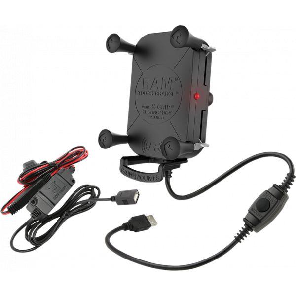 Suport Ghidon Telefon/GPS Ram Mounts Tough-charge Suport Ghidon cu Incarcare Wireless  Waterproof - Ramholun12wbv7m