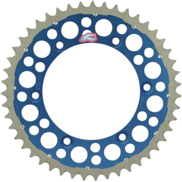 Kit de lant Renthal Pinion Spate R 520 48 Dinti Blue 12101136 Twinring